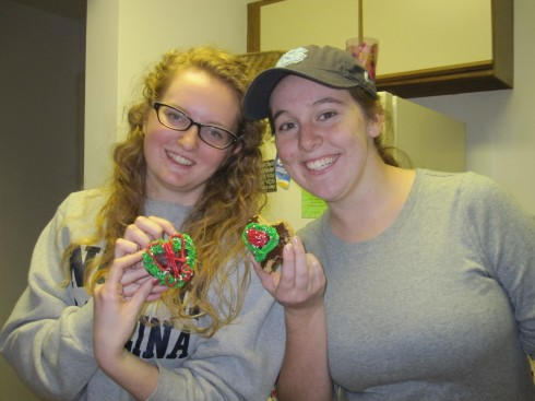 My American friends also participated in the gingerbread-heart decoration competition